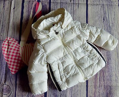 Moncler Baby Boy Or Girl Designer Down Filled White Puffa Coat 12-18 Months VGC