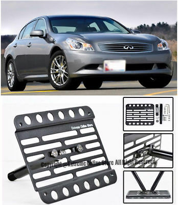 EOS Plate For 03-05 Infiniti G35 Coupe Full Sized Front Tow Hook License Bracket