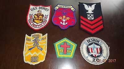 Uss-Dewey Ddg Pax Propter Vim Us-Navy Veteran Gi Patch & More Four More
