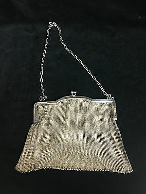 STERLING SILVER 925 ANTIQUE MESH HAND BAG LCBCo HALLMARKED- 925