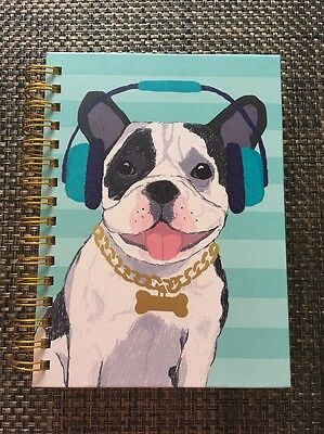 French Bulldog Frenchie Dog Puppy Spiral Notepad Diary Notebook Thick