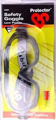 Protector COMPACT SAFETY GOGGLES Soft, Scratch & Fog-Free Lenses,CLEAR AUS Brand