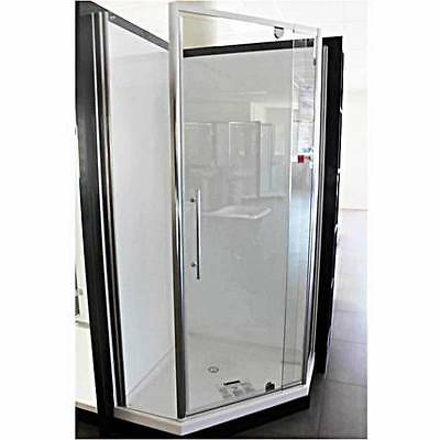 Chrome Frame Corner Shower Screen Enclosure with Base Complete - Boston 2000 NEO