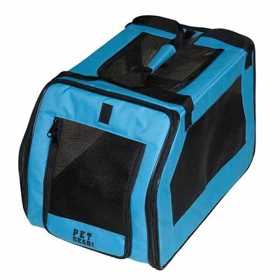 Pet Gear Signature Car Seat and Carrier for Cats Dogs up to 20 Pounds, Aqua New