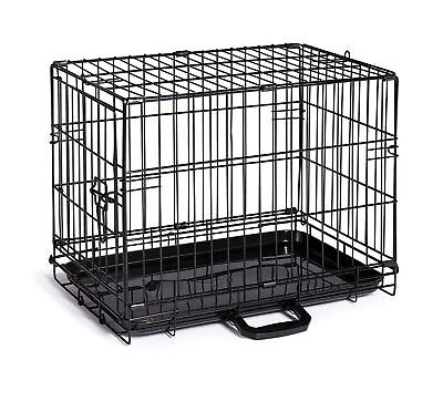Home On The Go Single Door Dog Crate, XX Small, Black