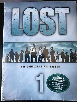 New Lost - The Complete First Season (DVD, 2005, 7-Disc Set) Factory Sealed