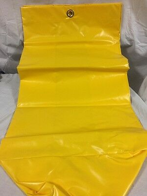 "Yellow Janitorial Cart Bag 32"" Vinyl with 6 Grommets Brand New"