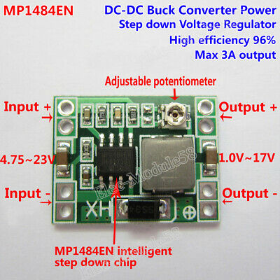 DC-DC Buck Step-down Regulator Converter 4.2~40v to 3V 3.3V 5V 9V 12V 24V Module
