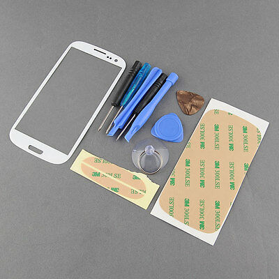 NEW Front Outer Screen Glass Cover for Samsung S3 SIII i9300 FREE Tools
