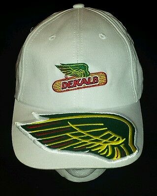 Original DEKALB Agriculture,White(one size fits most)Adjustable Strap Hat. NICE