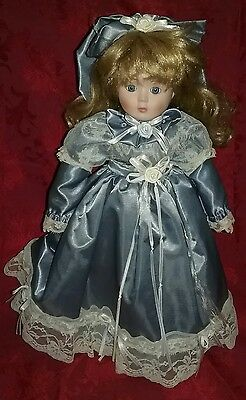 MANN,16 inch,Collectable Hand Made Porcelain Doll #383 With Stand