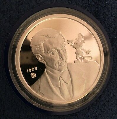 Mickey Mouse 60 Years with You Commemorative proof Limited edition .999 Silver