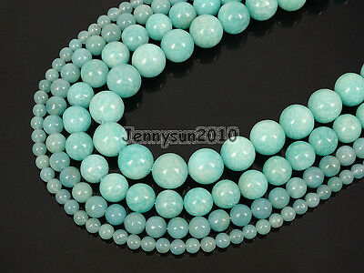 Natural Brazil Amazonite Gemstone Round Spacer Beads 15'' 4mm 6mm 8mm 10mm 12mm