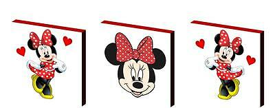 Minnie Mouse Red And White Canvas Wall Art Plaques/pictures