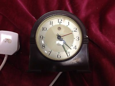Small Electric Bakelite Mantel Clock Smith /ferranti Spare And Repair