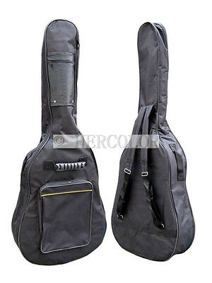 "Guitar Soft carrying Case Bag Fit Acoustic Guitar Padded Straps For 40"" 41"""