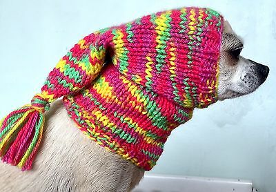 Chihuahua Tassel Hat / Hand Knitted Dog Hat
