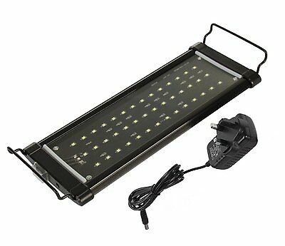 LED Aquarium Light 1-1.6FT / 12-20IN / 30-50CM Fish Tank Grow Light 2 Modes