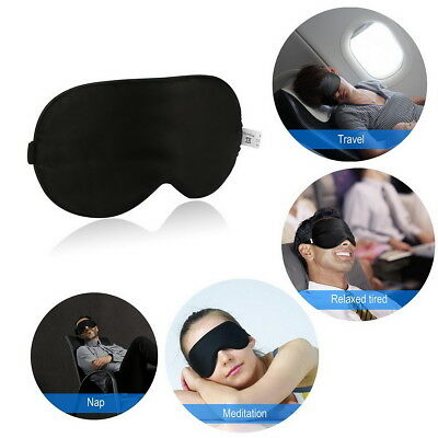 100% Pure Silk Sleeping Sleep Soft Eye Mask Blindfold Lights Out Travel Relax OZ