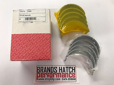 Ford Escort Mk3 Mk4 Mk5 Mk6 Mk7 CVH Glyco Main Bearing Set 0.25mm Fully Grooved