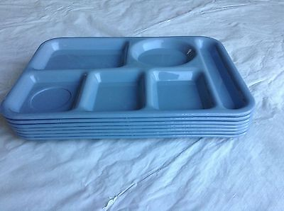 SILITE Luncheon Trays BLUE/GRAY Set of 7 - #614