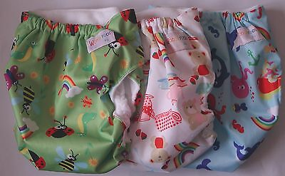 Reusable Nappies by Wonderoos v3 Cloth Diapers Nappy as below - Inserts not Inc