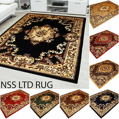 Traditional Rug Runner Classic Style Design Floral Soft Low Pile Small Large Mat