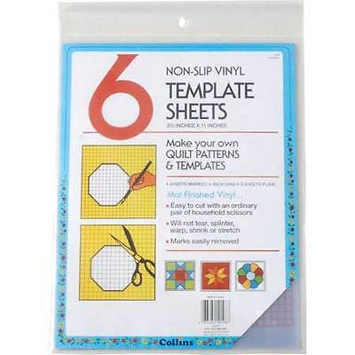 Collins Vinyl Plastic Template 8.5 Inches by 11 Inches 6 Per Pack