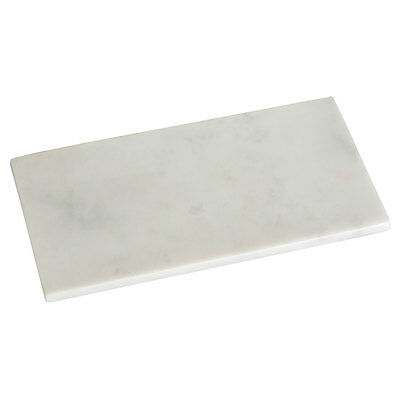 Rectangular Off White Heavy Marble Tray Kitchen Chopping Cutting Serving Tray