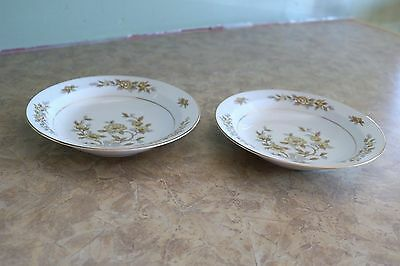 """Style House Fine China - INDORE - Japan - 7 1/2"""" Soup Bowls (2)"""