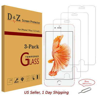 100% New Premium Real Tempered Glass Screen Protector Film For iPhone 6/7/8/Plus