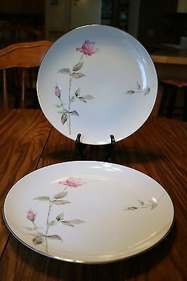 """Style House Fine China - Japan - DAWN ROSE - 10 1/2"""" Dinner Plates (2)"""
