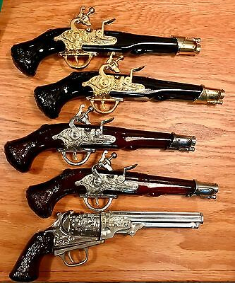 Vintage Lot of 5 Avon Pistol Gun Cologne Bottles