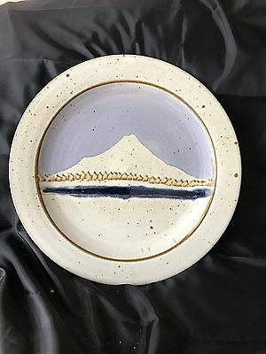 charley laventure pottery. Plate with Mount Hood Oregon