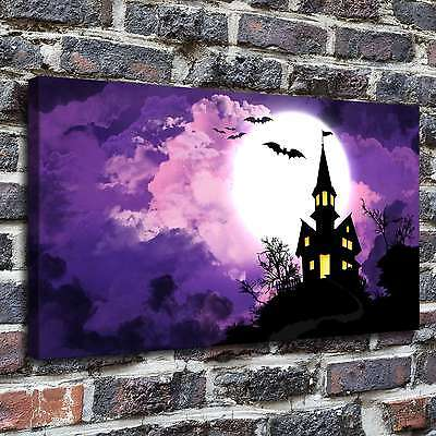 Happy Halloween Painting HD Print on Canvas Home Decor Wall Art Pictures12x22