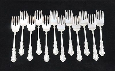 Set of 12 Reed and Barton Sterling Silver Cake Forks
