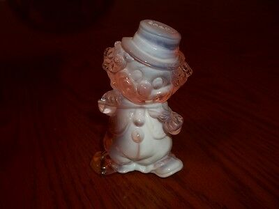 """Mosser Glass Fiddler Series """"Chatty"""" Apricot/White Solid Glass Clown"""