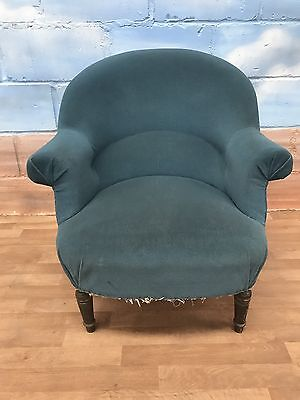 Antique Blue Nursing Chair (project)