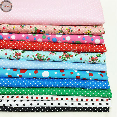 Polka Dots Prints Fabric Cotton Like Printed Dress Quilting Sewing By the Yard
