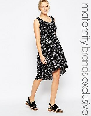ef1bd54026cb9 Mamalicious Maternity 'Milly' Black Ditsy Floral Tea Dress Size 12-14 Bnwt £