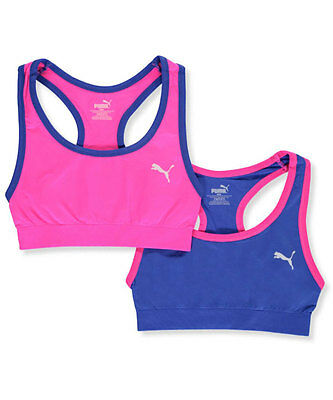 "Puma Little Girls' ""Full Court"" 2-Pack Sports Bras (Sizes 6 - 7)"