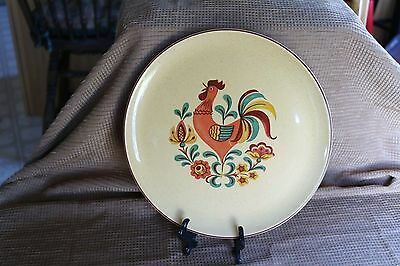"""Taylor, Smith & Taylor - REVEILLE - Rooster 11 1/2"""" Large Dinner / Chop Plate"""