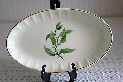 W S George Pottery GREEN VALLEY B-8760 Bolero Orange Blossom Relish Platter