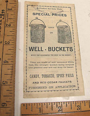 Antique Illustrated Advertising Murfreesboro Tn Red Cedar Well Bucket & Chest