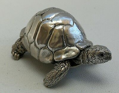 Vintage 1991 Sterling Solid Silver Tortoise Turtle By Country Artists
