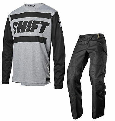 Shift Racing 2018 Mens Light Grey Recon Drift Dirt Bike Jersey & Pants Combo MX