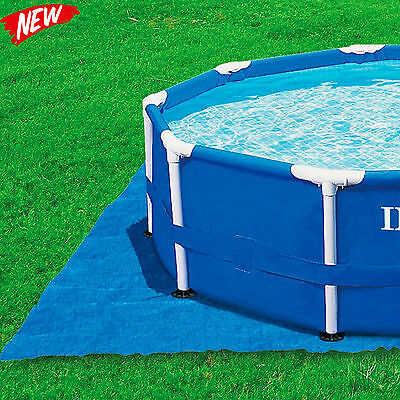 Intex Pool Ground Cloth for 8ft to 15ft Round Above Ground Pools Durable Pad