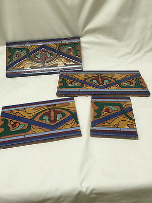 Arts and Crafts Style Art Pottery Tile