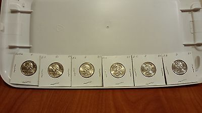 2009 DC AND US  Territorial Quarters D mint BU all 6 quarters minted.