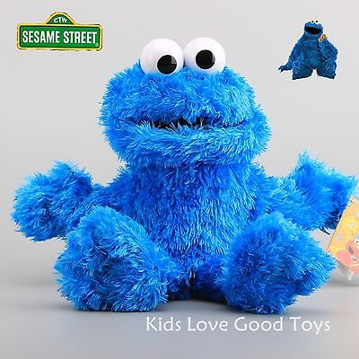 Sesame Street Plush Cookie Monster Hand Puppet Play Games Doll Toy Puppets